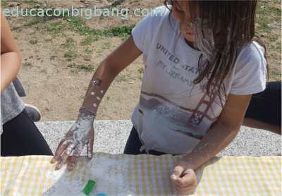 manchas de harina