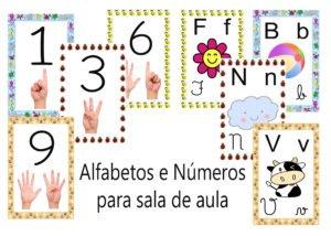Alfabetos E Numeros Cartazes Para Complementar Sua Pratica