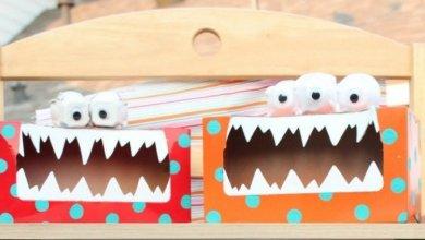 caja de pañuelos monstruo
