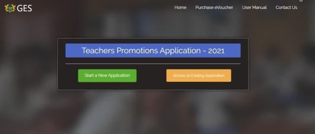 GES PROMOTION PORTAL Applicants