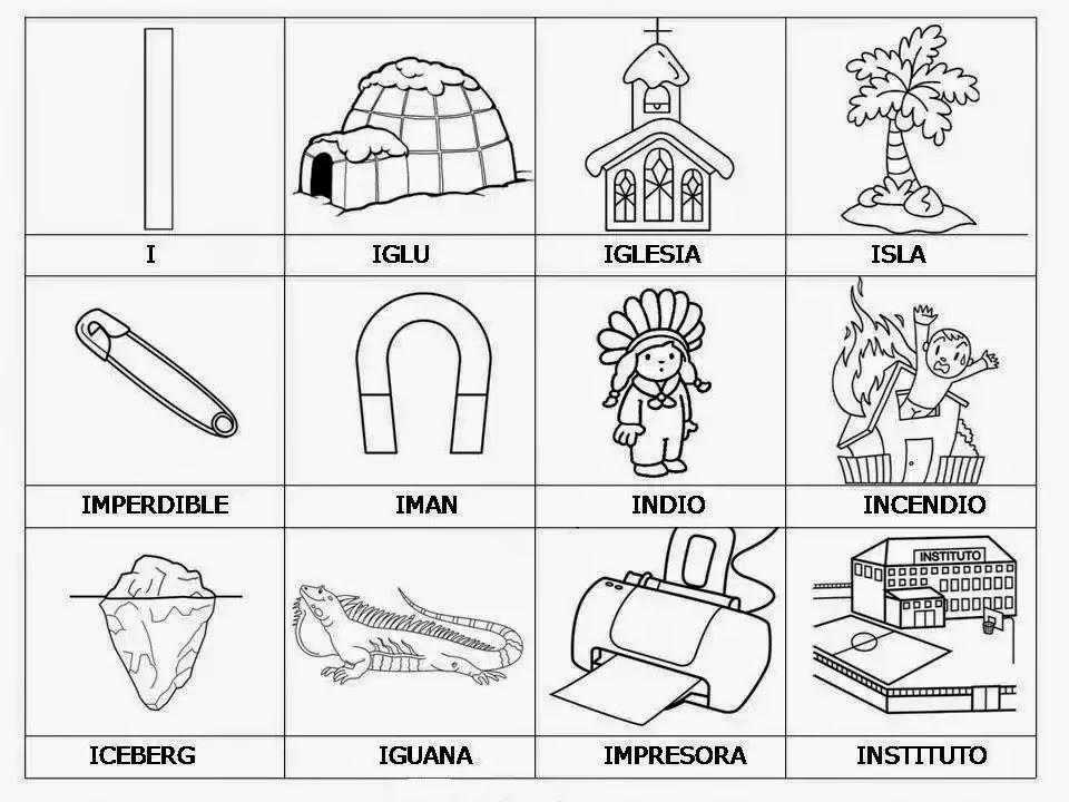 Cosas con la letra i - Animales y Cosas | Material para maestros ...
