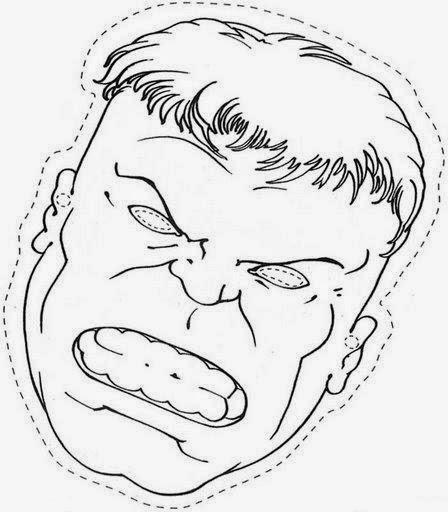 Mascara de Hulk para colorear e imprimir. | Material para maestros ...