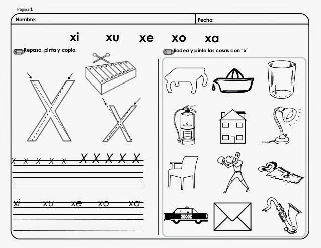 palabras con ax ex ix ox ux en español con imágenes para imprimir ...