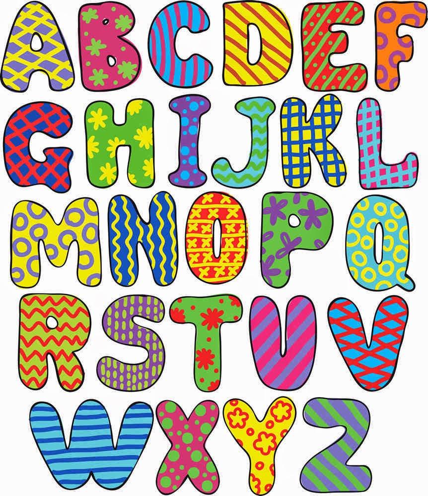 El abecedario im genes para imprimir colorear y trazar - Lettres alphabet originales ...