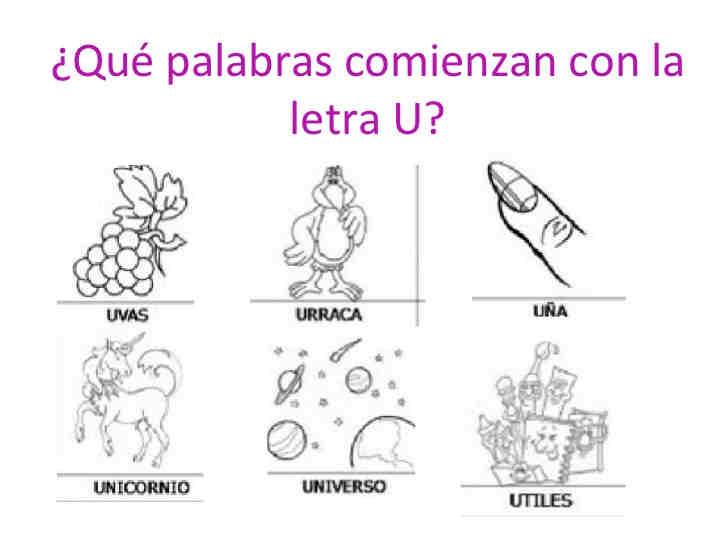 Dibujos Para Colorear Que Empiecen Con La Letra A: Dibujos Para Colorear Que Empiecen Con La Letra U