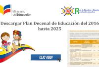 descargar plan decenal de educacion 2016 - 2025