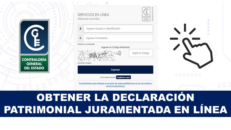 Obtener la Declaración Patrimonial Juramentada en Línea