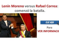 Lenín Moreno versus Rafael Correa: comenzó la batalla.