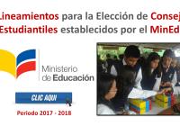 Lineamientos para la Elección de Consejos Estudiantiles establecidos por el MinEduc 2017