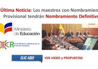 Última Noticia: Los maestros con Nombramiento Provisional tendrán Nombramiento Definitivo
