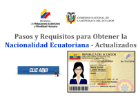 Pasos y Requisitos para Obtener la Nacionalidad Ecuatoriana - Actualizados