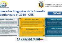 Conoce las Preguntas de la Consulta Popular para el 2018 - CNE