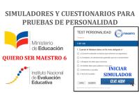 Nuevos Simuladores y Cuestionarios para Pruebas de Personalidad - Quiero Ser Maestro 6