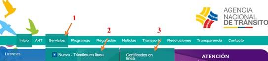 validar ant orden de pago certificados en línea ant certificado de registro vehicular