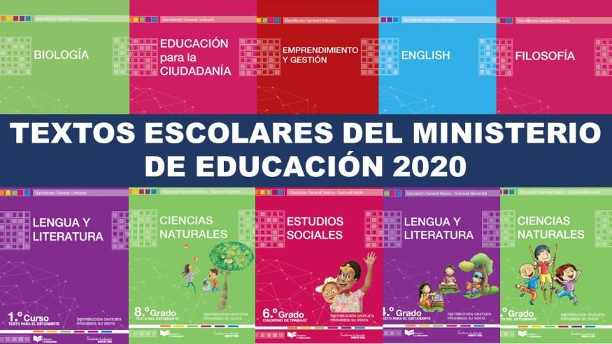 Textos escolares del Ministerio de Educación 2020