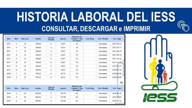 Historia Laboral del IESS Consultar y Descargar IMPRIMIR