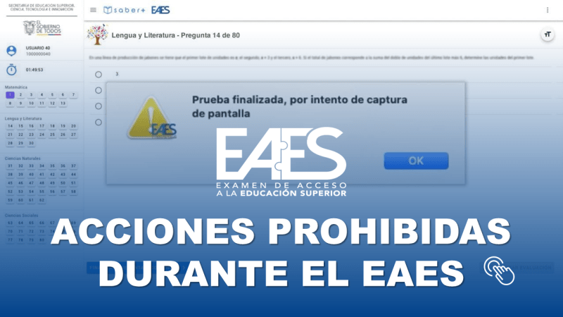 Acciones Prohibidas Durante el EAES