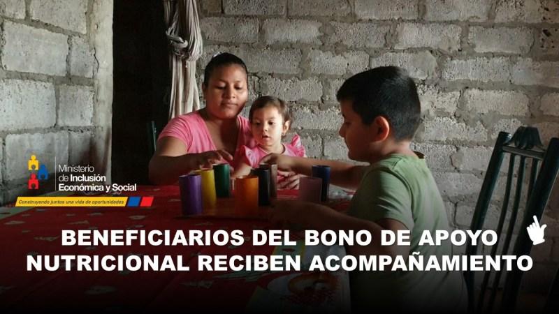 Familias beneficiarias del Bono de Apoyo Nutricional reciben Acompañamiento
