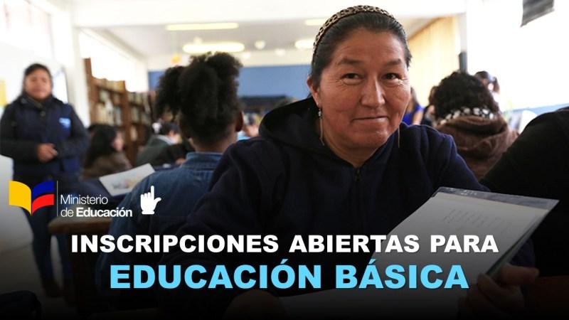 Inscripciones Abiertas para Educación Básica
