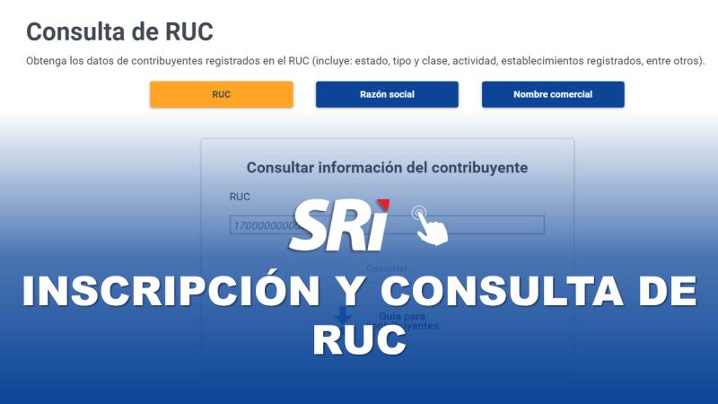 SRI en Línea: Inscripción y Consulta de RUC