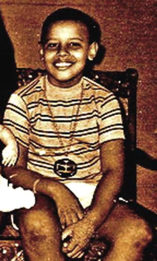 Barry Soetoro 10 years old