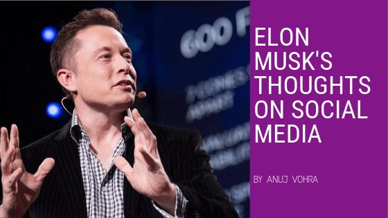 Elon Musk on social media