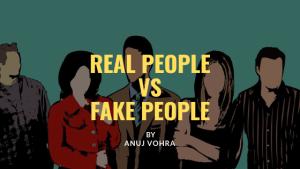 Fake people vs real people
