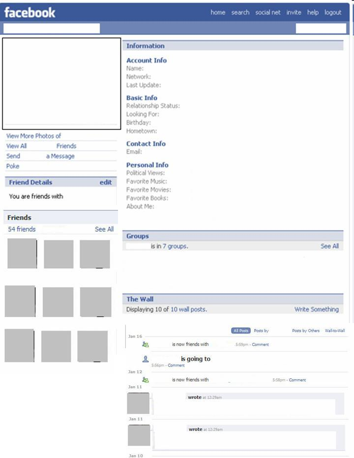 Facebook Blank Template. the website templates and website on ...