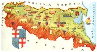 Emilia Romagna is famed for Parmesan Cheese, dairy products, balsamic vinegar and Param Ham