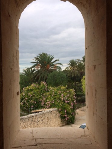 From the terrace of Donnafugata, looking towards the Mediterranean Sea