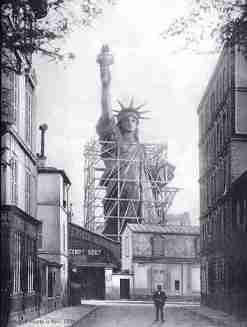Statue of Liberty - under construction in Paris c.1876