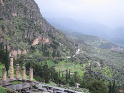 Delphi - the view from Mt Parnassus