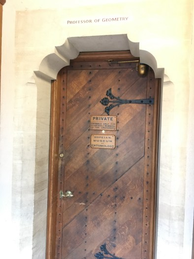 This door leads to the Entomology Collection