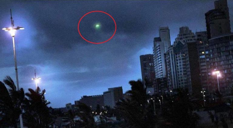 mysterious green light cape to