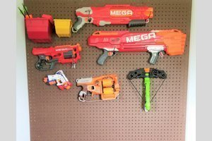 DIY Nerf Pegboard Storage Wall