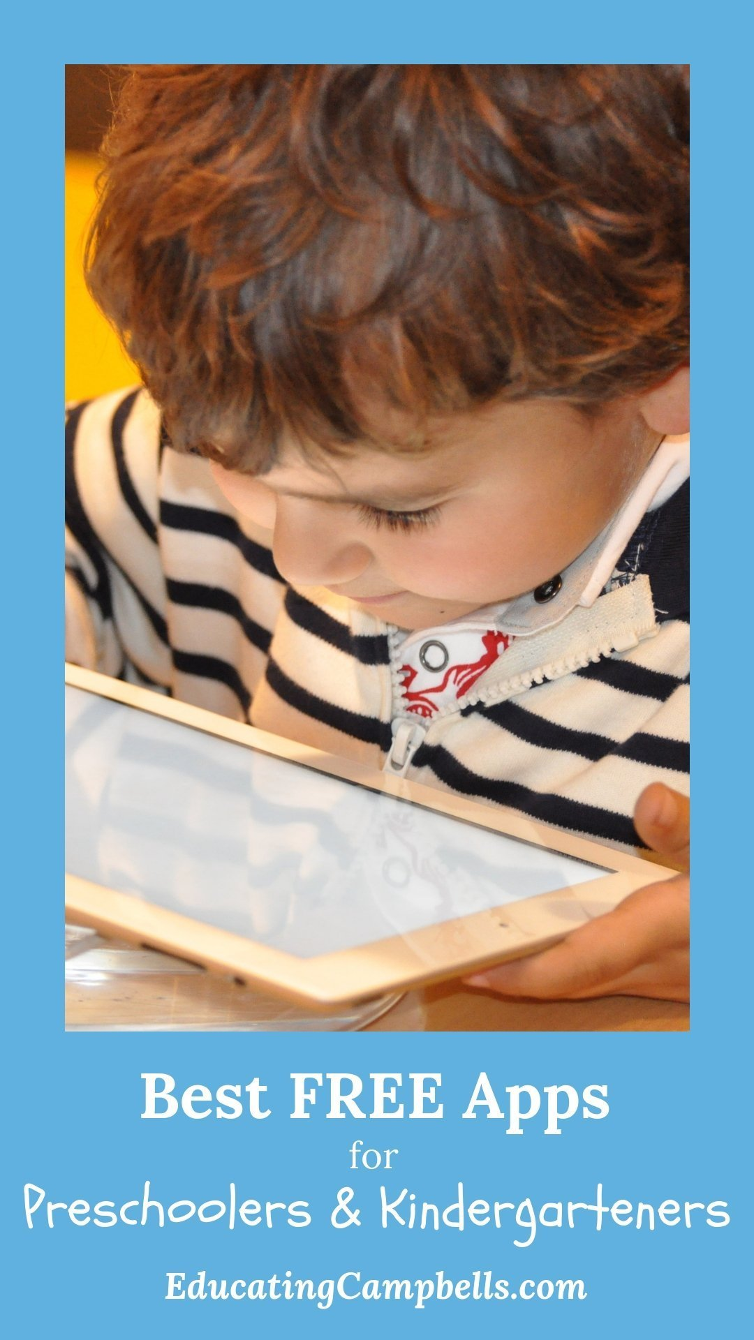 Best free apps for preschoolers and kindergarteners, child playing with tablet