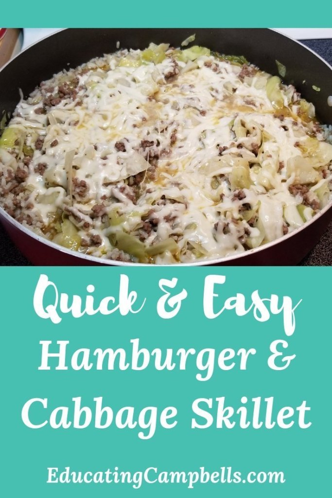 Hamburger & Cabbage Skillet Recipe