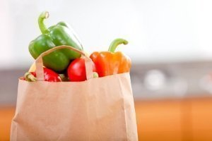 bag of groceries, how we save money on groceries