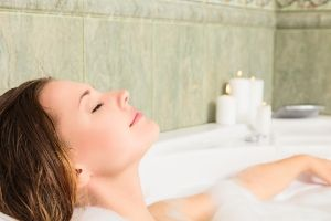 5 cheap self-care ideas for busy moms, mom taking a hot bath