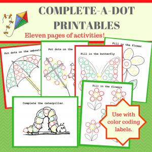 Complete-a-Dot-Activity examples