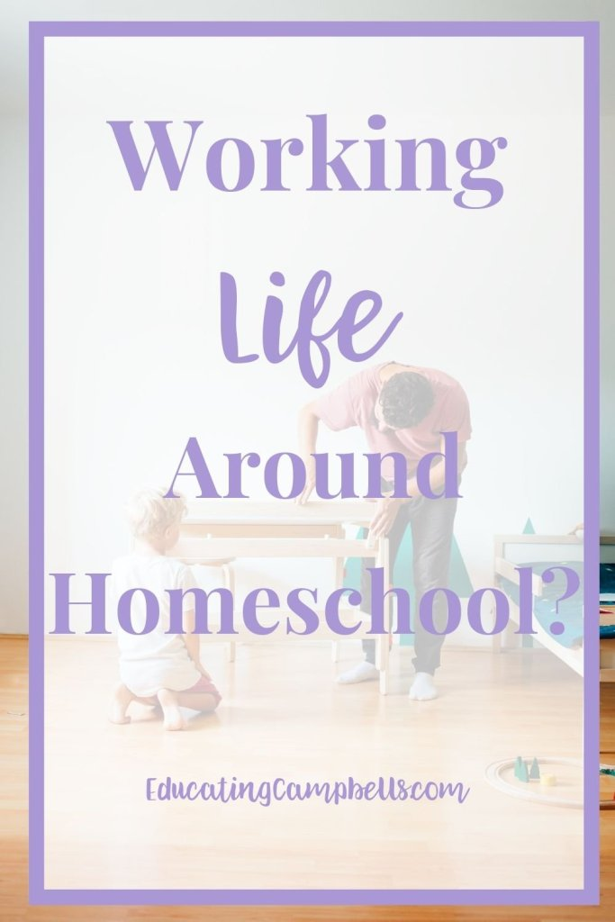 Working Life Around Homeschool, dad and son building a table