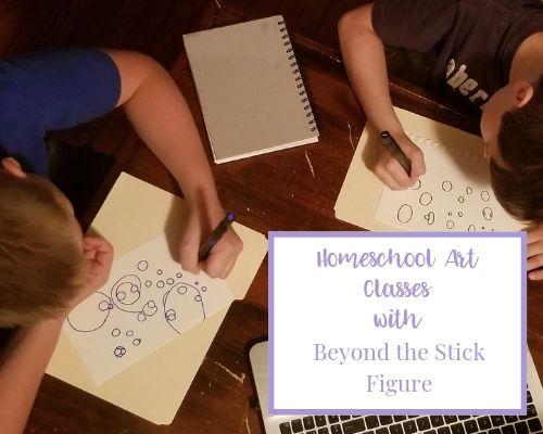 homeschool art classes featured image