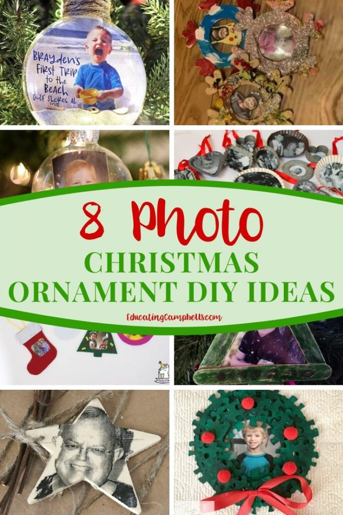 Photo Christmas Ornament DIY Ideas, Collage Image