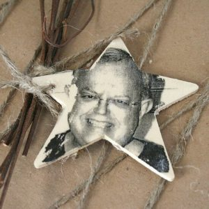 wooden photo transfer ornament