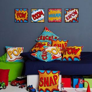 The design of the pictures and cushions but it different colours.