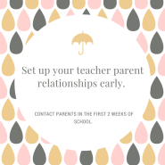 Teach Tip Tuesday: Make contact with parents within 2 weeks to setup a productive year.