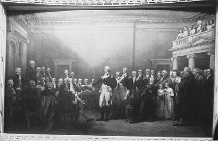 General Washington Resigning his Commission to Congress