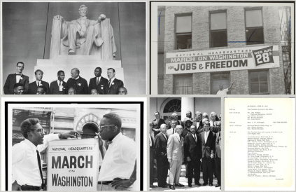 A Screenshot of The March Section on the Struggle for Civil Rights Website