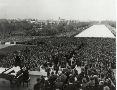 People Gathered to Hear Singer Marian Anderson in Potomac Park