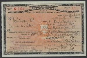 Prescription for Whiskey for I. F. Johnson